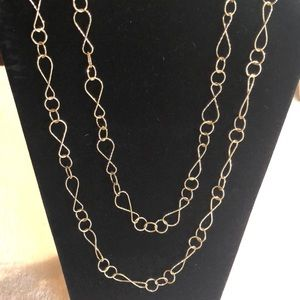 Talbots Double Layer necklace - gold